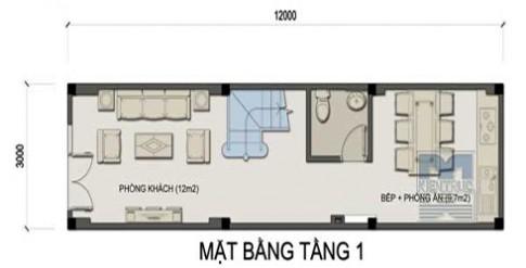 Nhà 36 m2 hợp phong thủy cho tuổi Canh Thân