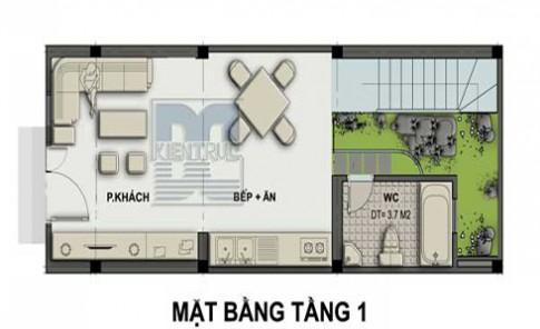 Nhà 4 tầng cho gia chủ tuổi Mậu Ngọ