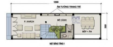 Nhà 5 tầng trên diện tích hẹp 3,5 x 12 m