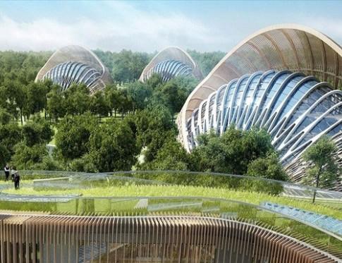 Nhà hình nón ở siêu thành phố tương lai TQ