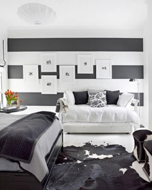 Nhà phong cách với 2 màu đen trắng