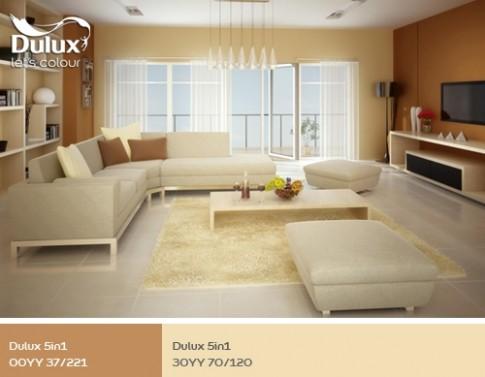 Nhà sang trọng nhờ sắc màu nội thất