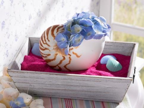 Nhà xinh yêu ngỡ ngàng nhờ sắc hoa xanh