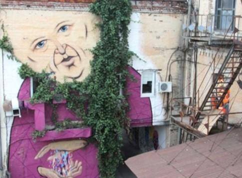 Những bức tường 'sống' ở Nga