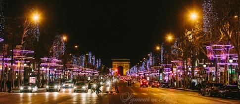 Noel huyền ảo trên đại lộ Champs Elysees
