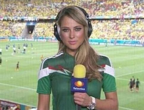 Nữ phóng viên xinh đẹp nhất World Cup 2014