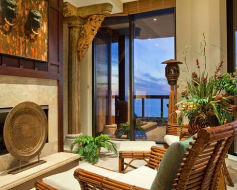 Phòng khách hiện đại vẫn đậm nét châu Á