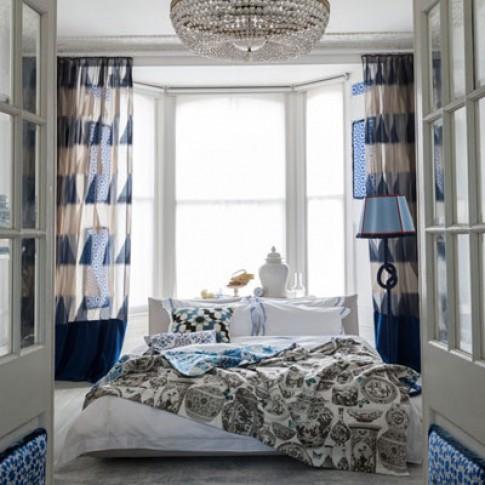 Phòng ngủ mát mắt với sắc xanh