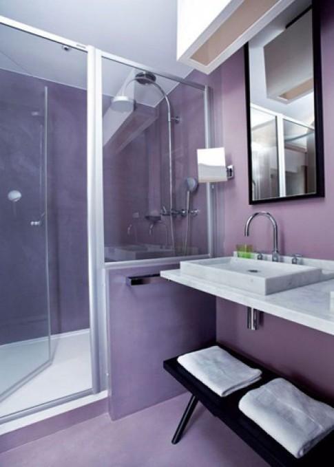 Phòng tắm mở hướng vào phòng ngủ