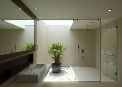 Phòng tắm 'xanh' cho ngày hè thêm mát