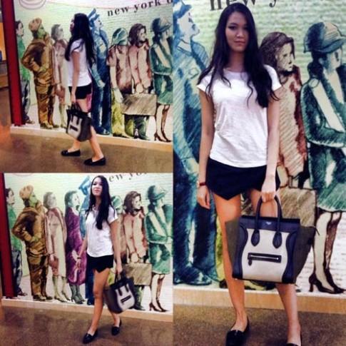 Sao Viet cung me dam vay skort cua Zara