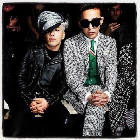 Style cực chất của G-Dragon và Taeyang tại Paris