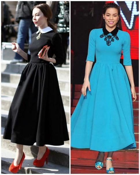 Sự giống nhau bất ngờ giữa Hà Hồ và tín đồ thời trang Nga