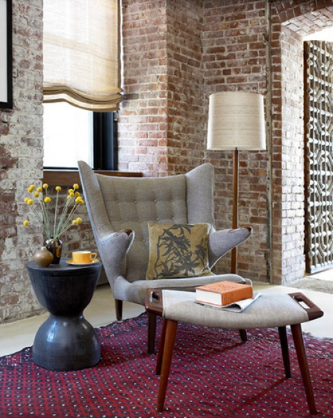 Tạo không gian ấm cúng bằng tường gạch