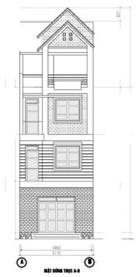 Thiết kế nhà 5x15m cho gia chủ sinh năm 1965