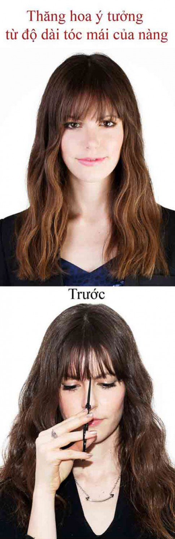 Thỏa sức biến tấu tóc mái không cần ra tiệm