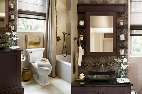 """""""Thổi rộng"""" phòng tắm nhỏ thật dễ!"""