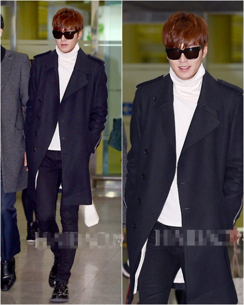 Thời trang sân bay cực chất của Lee Min Ho