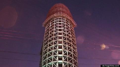 Tòa nhà hình 'của quý' ở Trung Quốc gây xôn xao