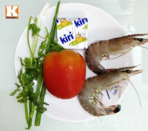 Tôm sốt phô mai con ăn vèo bữa sáng