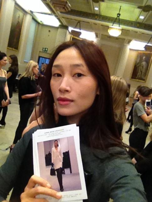 Trang Khiếu âm thầm casting tại London Fashion Week