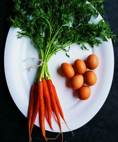 Trứng cuộn cà rốt đơn giản mà ngon