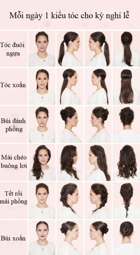 Tự biến tấu mỗi ngày một kiểu tóc cho kì nghỉ lễ