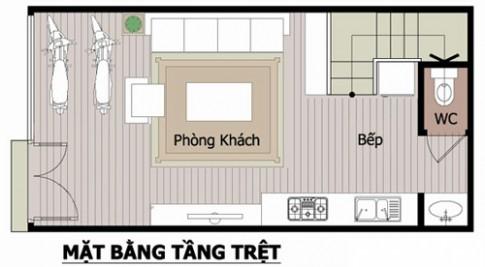 Tư vấn xây 32m2 nhà Sài Gòn xinh xinh