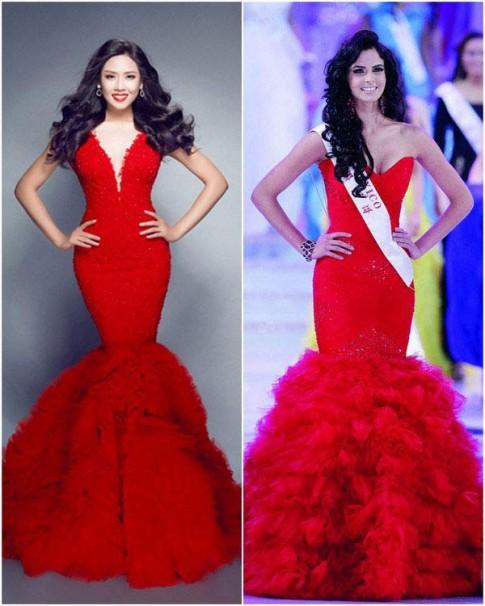 Váy áo Nguyễn Thị Loan tại Miss World bị tố 'đạo ý tưởng'