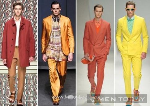 Xu hướng sắc màu và họa tiết thời trang nam giới xuân hè 2013