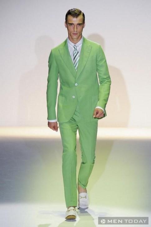 Xu hướng suit màu sắc Xuân Hè 2013 cho các chàng