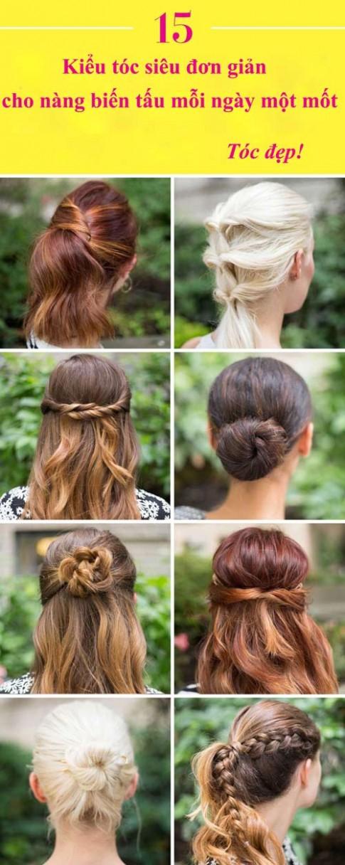 15 kiểu tóc siêu đơn giản cho nàng biến tấu mỗi ngày một mốt