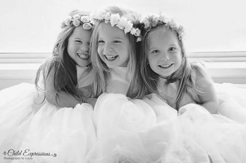 3 bé gái cùng trứng đẹp như thiên thần dưới ống kính của mẹ
