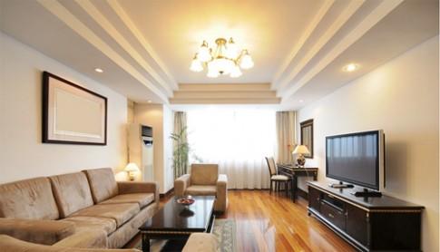 3 kiểu thiết kế trần thạch cao phòng khách ấn tượng năm 2014