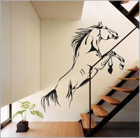 5 cách làm đẹp cho tường dọc cầu thang