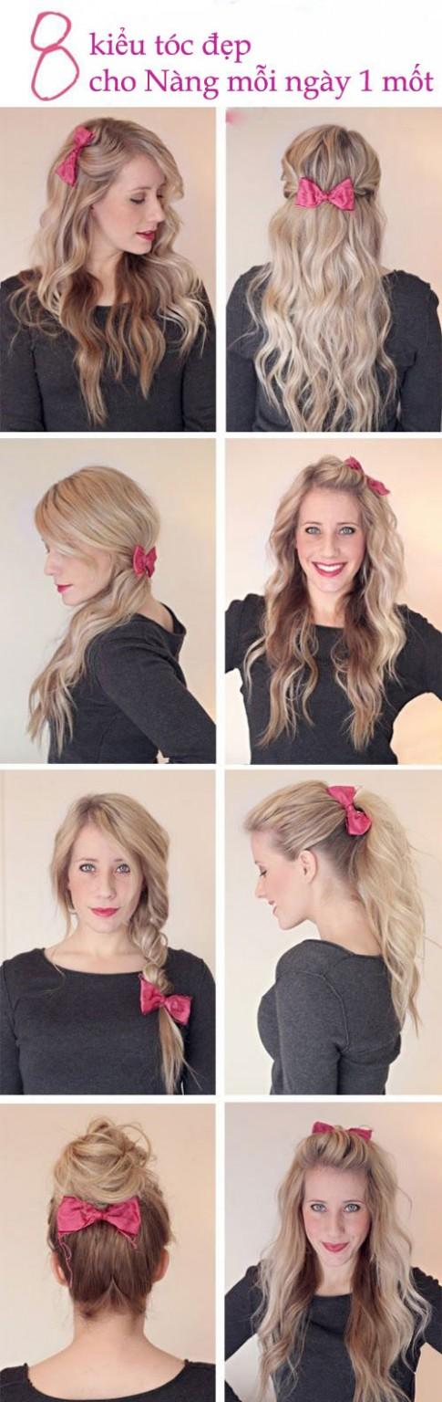 8 kiểu tóc đẹp cho nàng mỗi ngày một mốt