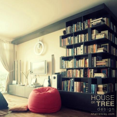 Bài trí căn hộ cho người mê sách