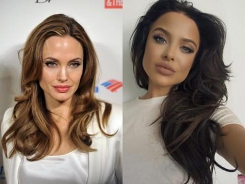 Bản sao quyến rũ sửng sốt của Angelina Jolie