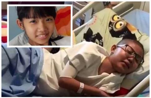 Bé gái Singapore ung thư vẫn làm toán đến phút cuối đời