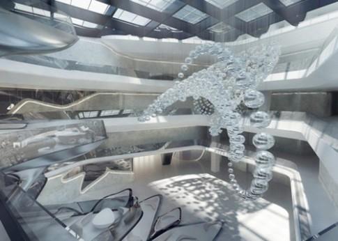 Bên trong khách sạn mô phỏng tàu vũ trụ tại Dubai