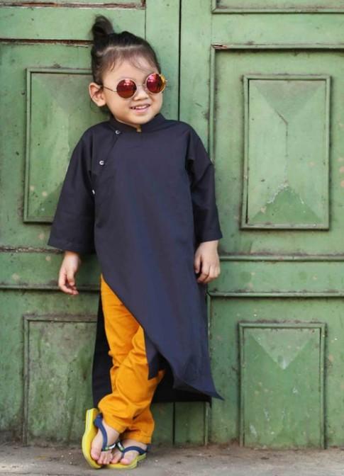 Bộ ảnh bé trai Sài Gòn mặc áo dài cực chất