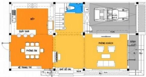 Bố trí hợp lý cho nhà 3 tầng bán cổ điển