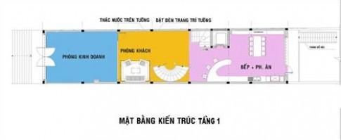 Bố trí không gian và nội thất cho nhà phố 145 m2
