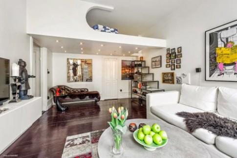 Bố trí nhà chung cư 34 m2 có gác xép