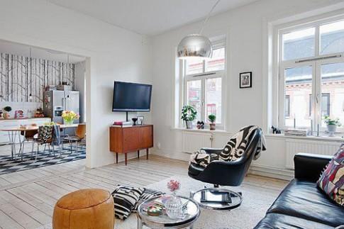 Bố trí nhà chung cư 78 m2 có hai phòng ngủ