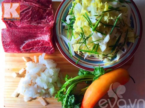 Bò xào dưa chua bắp cải ngon cơm