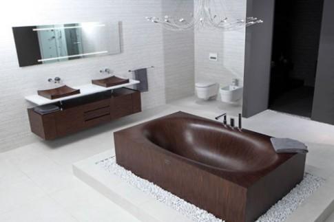 Bồn tắm bằng gỗ để nhà sành điệu nhất phố