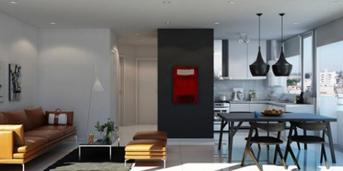 Các cách bố trí liên thông phòng khách và bếp