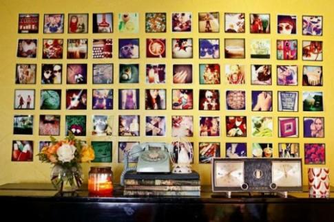 Các cách treo được nhiều ảnh gia đình trên tường