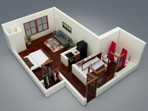 Các kiểu bố trí hợp lý cho căn hộ 40 m2